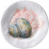 Merritt International Coral Shell 8in plate - Conch